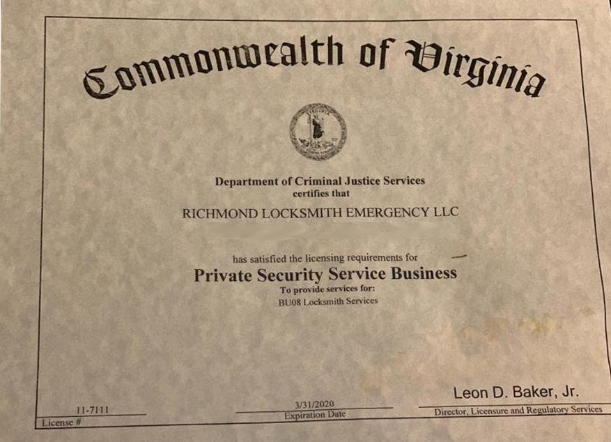 lic locksmith richmond va